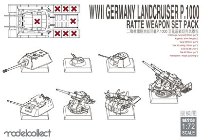 Picture of WWII Germany landcruiser p.1000 ratte weapon set pack
